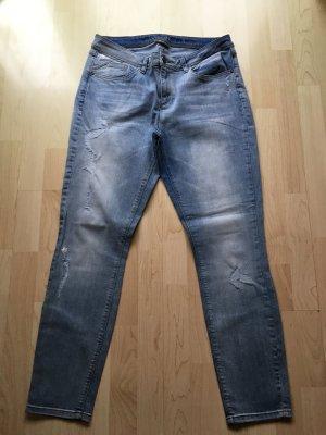 Street One Stretch Jeans Hose York XL 44/46 W33 L30 short NEU Fit Slim Fetzen NP 79€