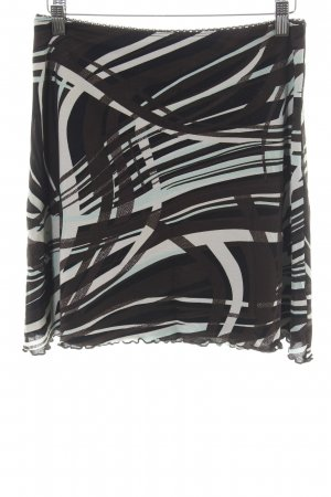 Street One Stretch Skirt black-natural white abstract pattern casual look
