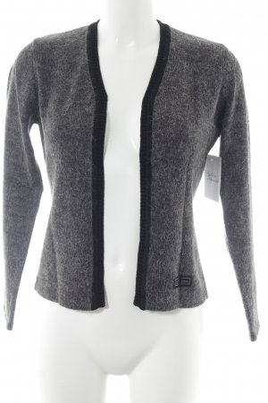 Street One Strick Cardigan grau-schwarz meliert Casual-Look