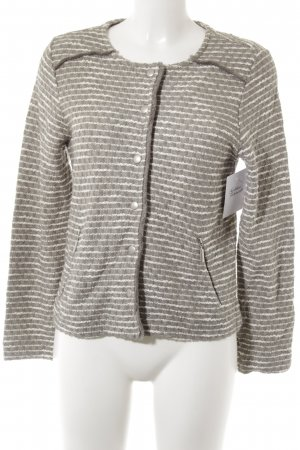 Street One Knitted Blazer white-grey brown striped pattern casual look