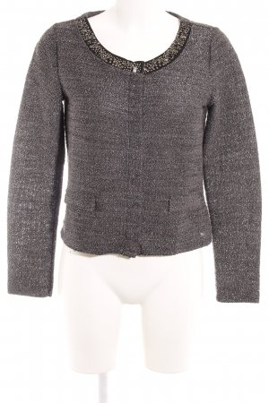 Street One Strickjacke graubraun Glitzer-Optik