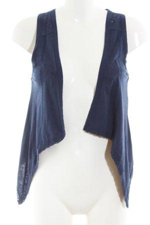Street One Smanicato lavorato a maglia blu stile casual