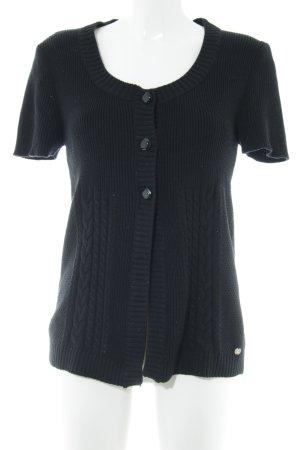 Street One Gilet tricoté noir torsades style décontracté