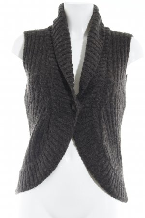 Street One Knitted Vest taupe weave pattern casual look