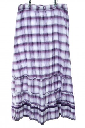Street One Broomstick Skirt lilac-white check pattern casual look