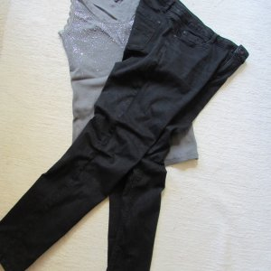Street One * %Summer SALE% Schöne slim Jeans Envy * schwarz Stretch * W33 L32 (42/44)
