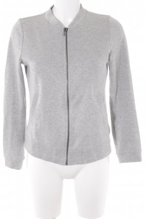 Street One Sweatjacke silberfarben Casual-Look