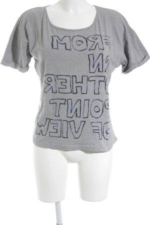 Street One T-Shirt grau Schriftzug gedruckt Casual-Look