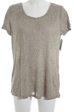 Street One T-Shirt graubraun-hellbraun florales Muster Casual-Look