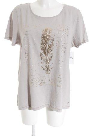 Street One T-Shirt hellgrau-goldfarben Motivdruck Casual-Look