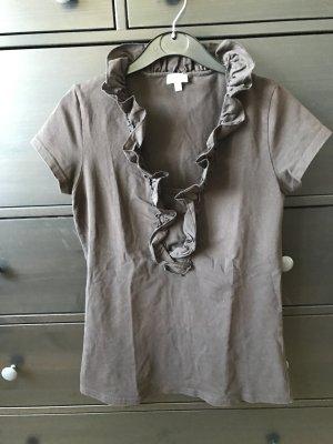 Street One T-Shirt in braun Größe 40 mit Volants neu ungetragen