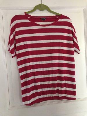 Street One T-Shirt pink / weiß Streifen Gr. 38