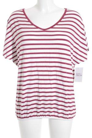 Street One T-Shirt rot-wollweiß Streifenmuster schlichter Stil