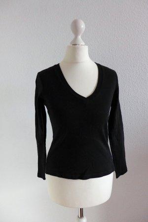 Street One T-Shirt Shirt Oberteil basic Langarm kurz schwarz Gr. 36 S