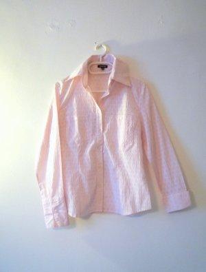 *Street One* Taillierte Hemdbluse in rosa, Struktur-Detail