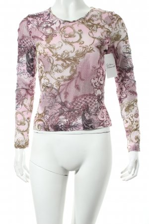 Street One Top rosa-goldfarben florales Muster