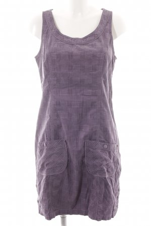 Street One Pinafore dress lilac-brown violet check pattern casual look
