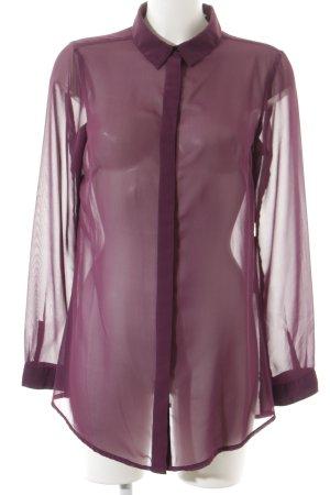 Street One Transparenz-Bluse dunkelviolett schlichter Stil