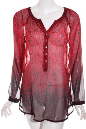 Street One Transparenz-Bluse schwarz-rot Farbverlauf Street-Fashion-Look