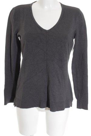 Street One V-Ausschnitt-Pullover grau Casual-Look
