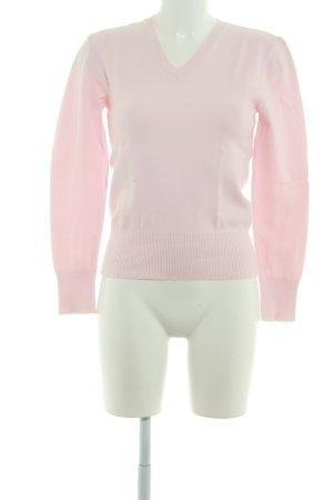 Street One V-Ausschnitt-Pullover rosé Casual-Look