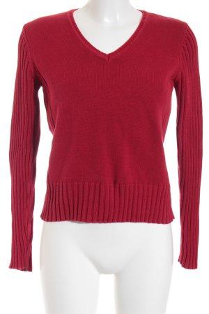 Street One V-Ausschnitt-Pullover rot Casual-Look