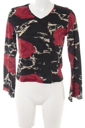 Street One V-Ausschnitt-Shirt florales Muster Romantik-Look