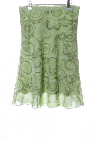 Street One Flounce Skirt green graphic pattern casual look