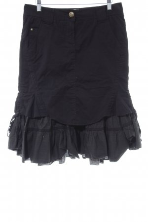 Street One Flounce Skirt black-grey brown layered look