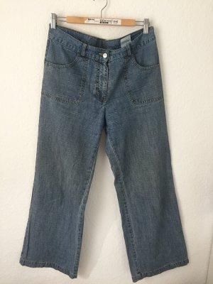 Street One Jeans a zampa d'elefante blu acciaio-grigio