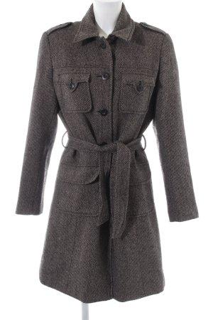 Street One Cappotto in lana nero-marrone stile professionale