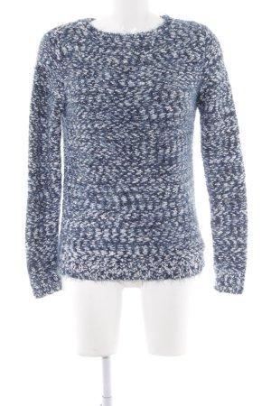 Street One Wollpullover kadettblau-weiß Kuschel-Optik