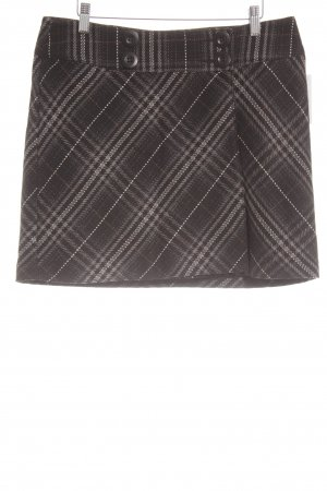 Street One Wool Skirt black-grey check pattern street-fashion look