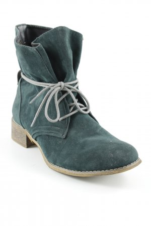 Street Super Shoes Low boot marron clair-bleu pétrole style décontracté