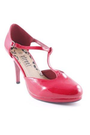 Street Super Shoes Riemchenpumps rot Elegant
