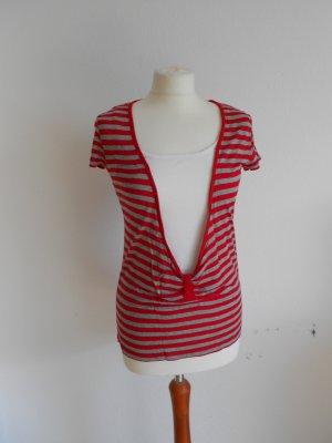 Street One Camisa de rayas blanco-rojo
