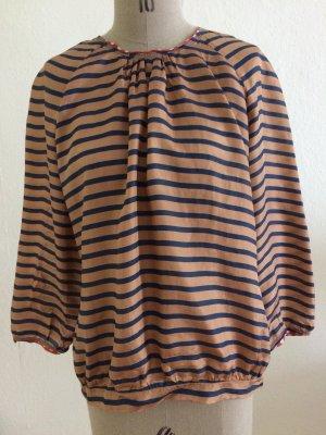 Streifen Bluse aus Seide