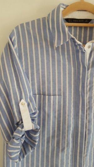 Streifen Blusenkleid