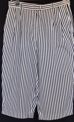 Marco Pecci Pantalón capri blanco-azul oscuro Algodón