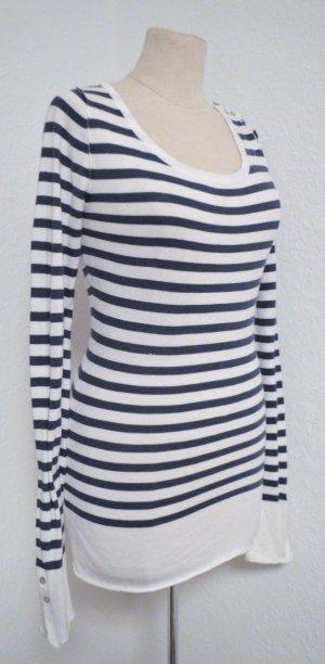 Streifen Longshirt Shirt Maritim