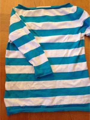 Streifen Pulli in tollem blau