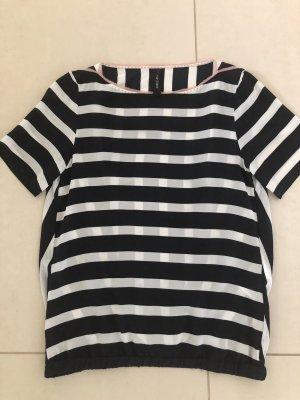 Streifen-Shirt aus Seide von Marccain
