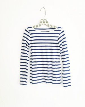 streifen shirt / longsleeve / vintage / stripes / blau weiss