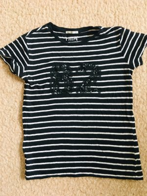 Camiseta negro-blanco