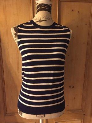 Streifen - Top / Zara Knit - Marine-Stil