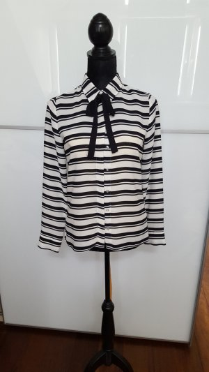 Atmosphere Blusa collo a cravatta bianco-nero