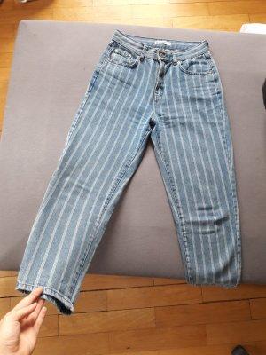 Pull & Bear Jeans bianco-azzurro
