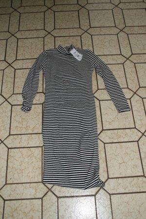 Vestido de lana negro-blanco Algodón