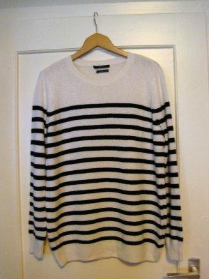 Set Maglione di lana bianco-nero Lana