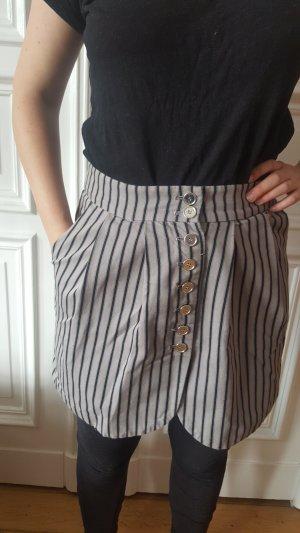 Streifenrock high waist